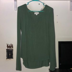 Olive green long sleeve.